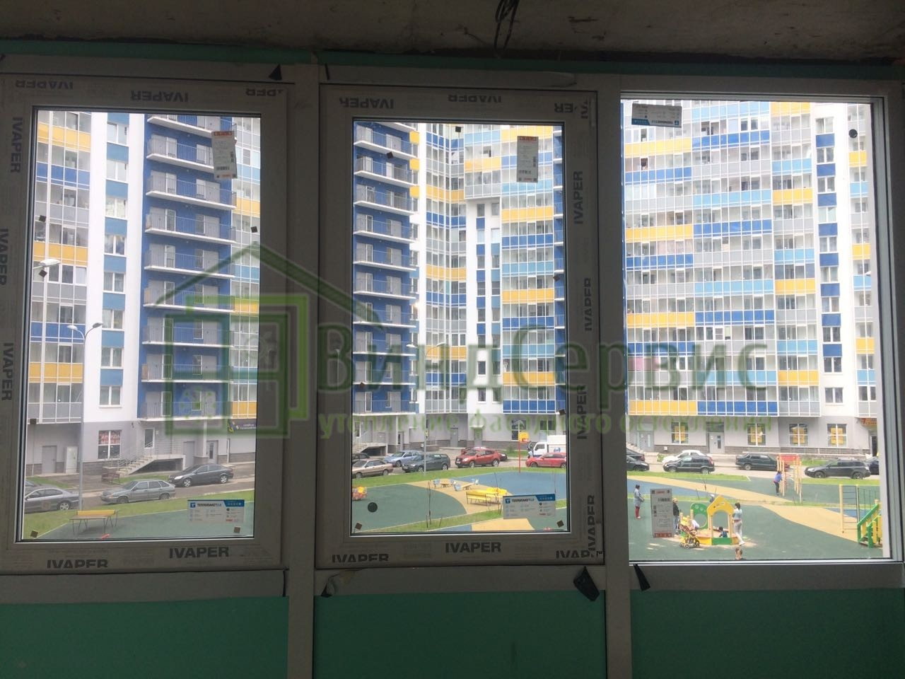 Витражное остекление балкона. ЖК Венисаж, Пражская 15