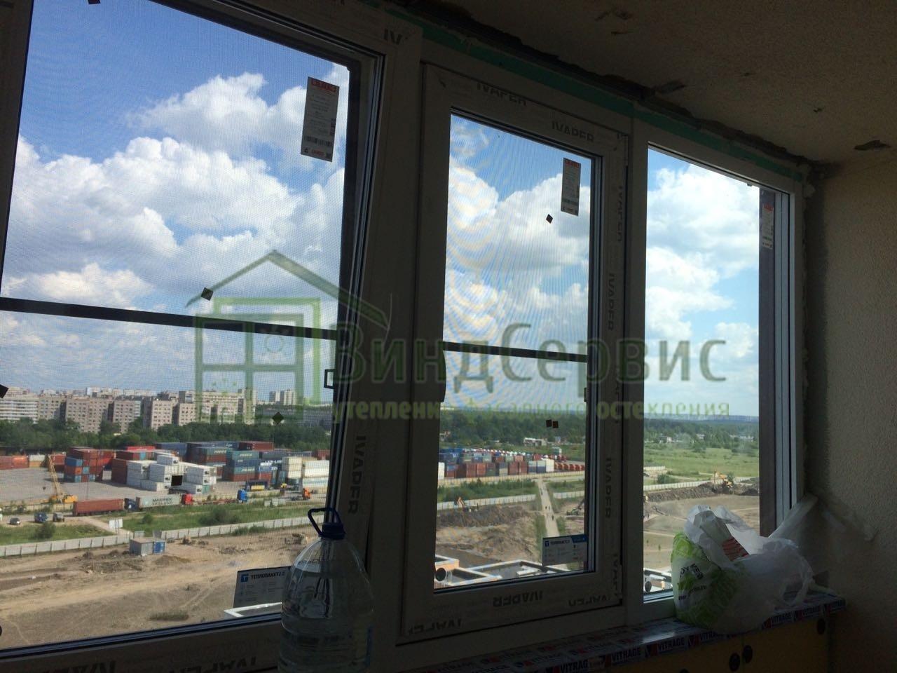 Витражное остекление. Ветеранов 169-3 ЖК Солнечный город