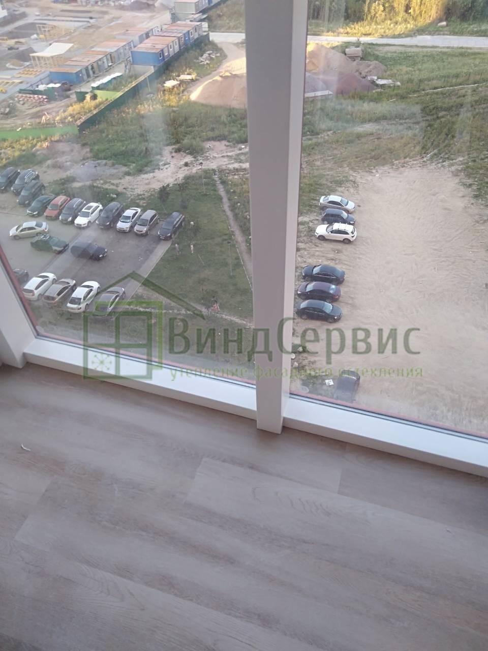 Фасадное остекление с коробами. Пулковское шоссе 38-2 ЖК Летний
