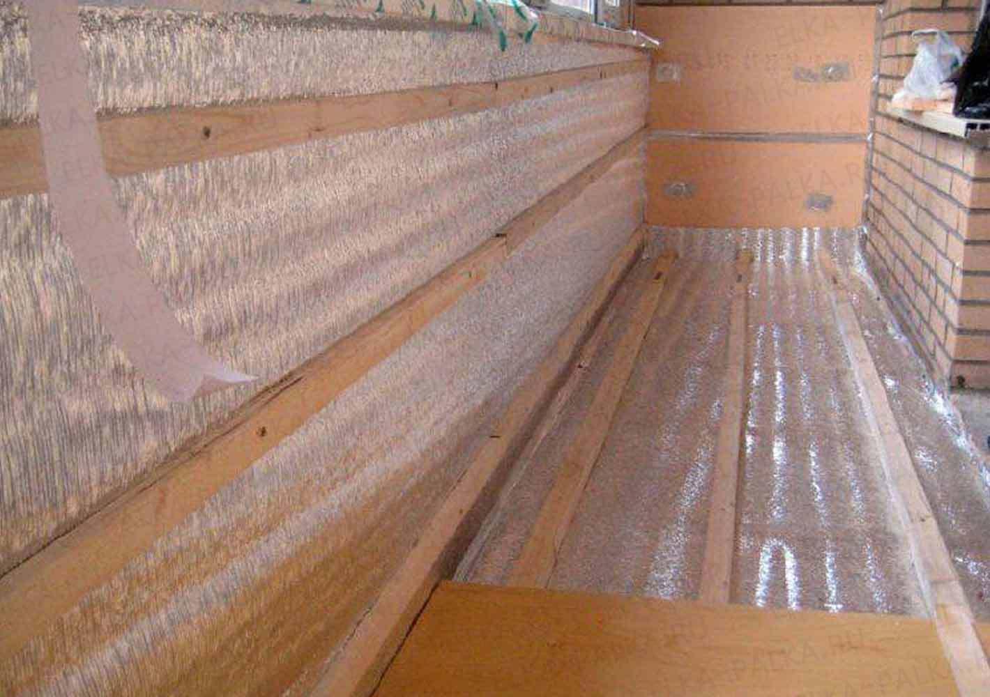 Ремонт балкона теплоизоляция