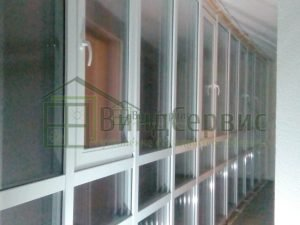 Витражное остекление балкона. Балтийский бульвар 4 ЖК Паруса