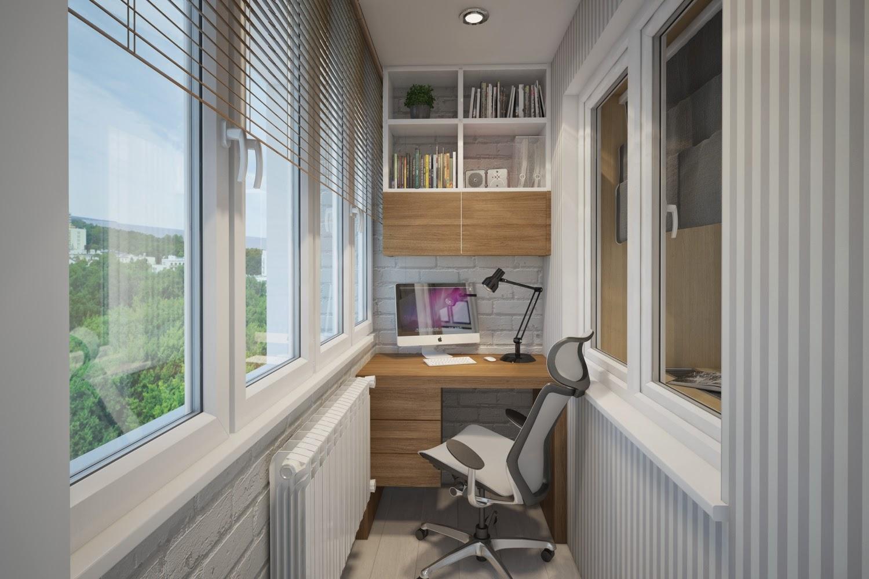 Обустройство балкона - кабинета