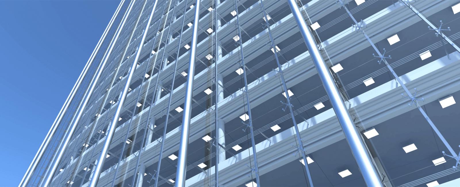 Структурное фасадное остекление