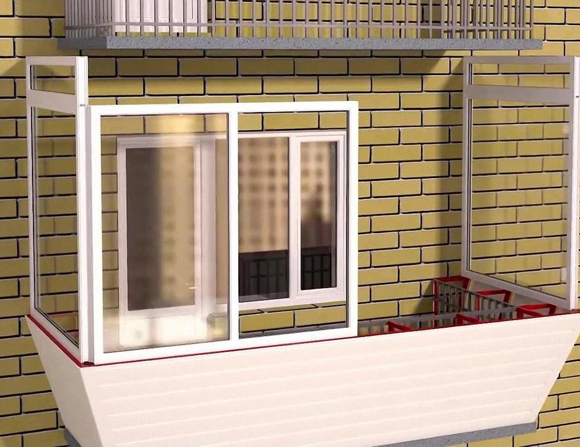 Процесс остекления балкона и лоджии