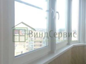 Витражное остекление с пеноплексом. Ленинский 82