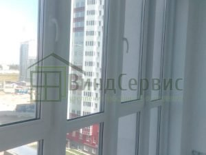 Витражное остекление с отделкой. Ленинский 64-1