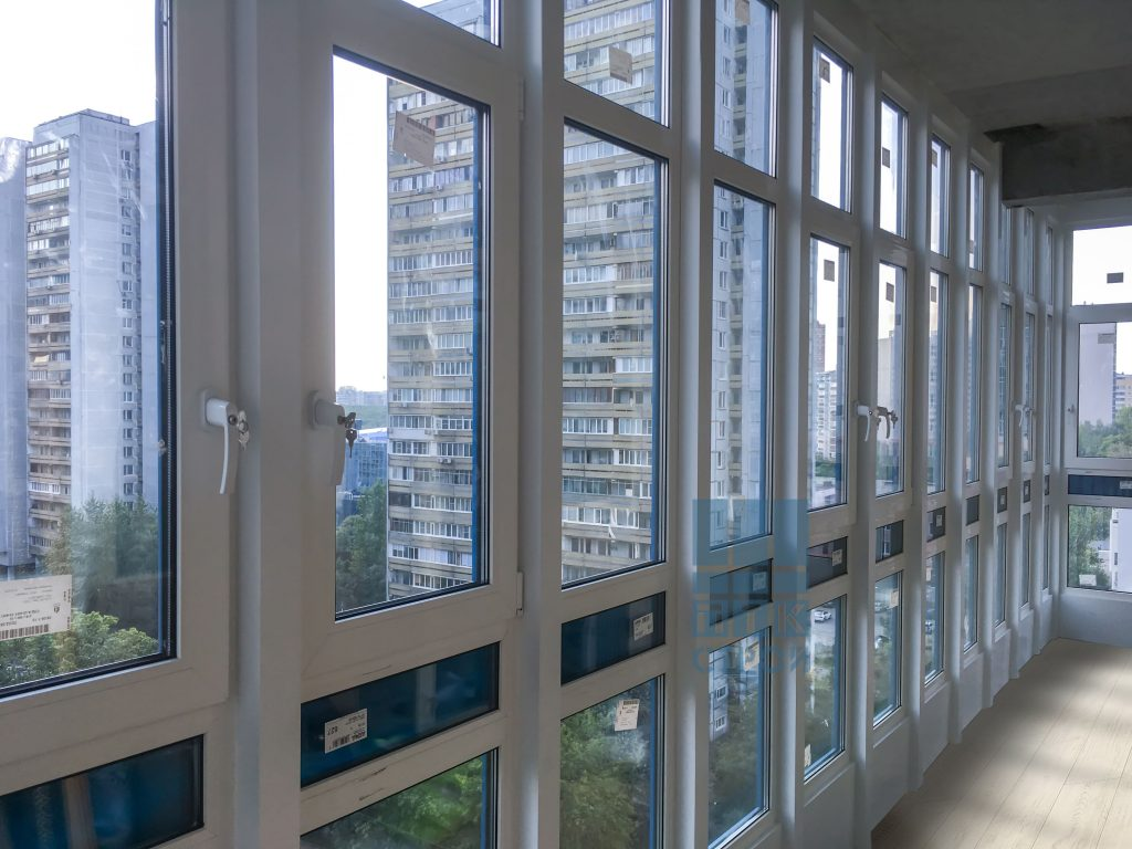 Утепление балкона с фасадным остеклением