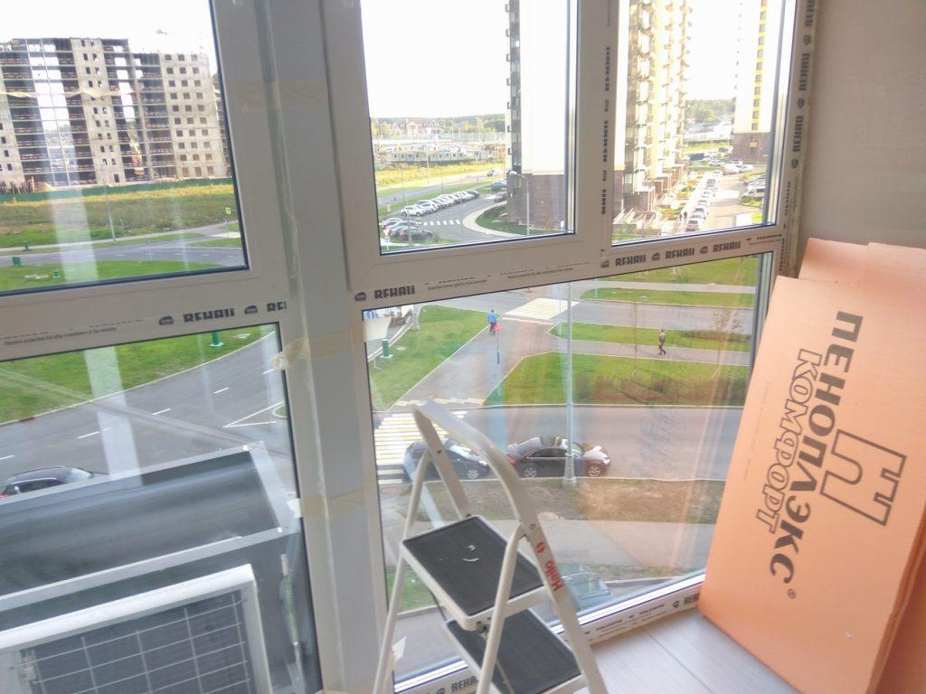 Утепление ленточного остекления балкона