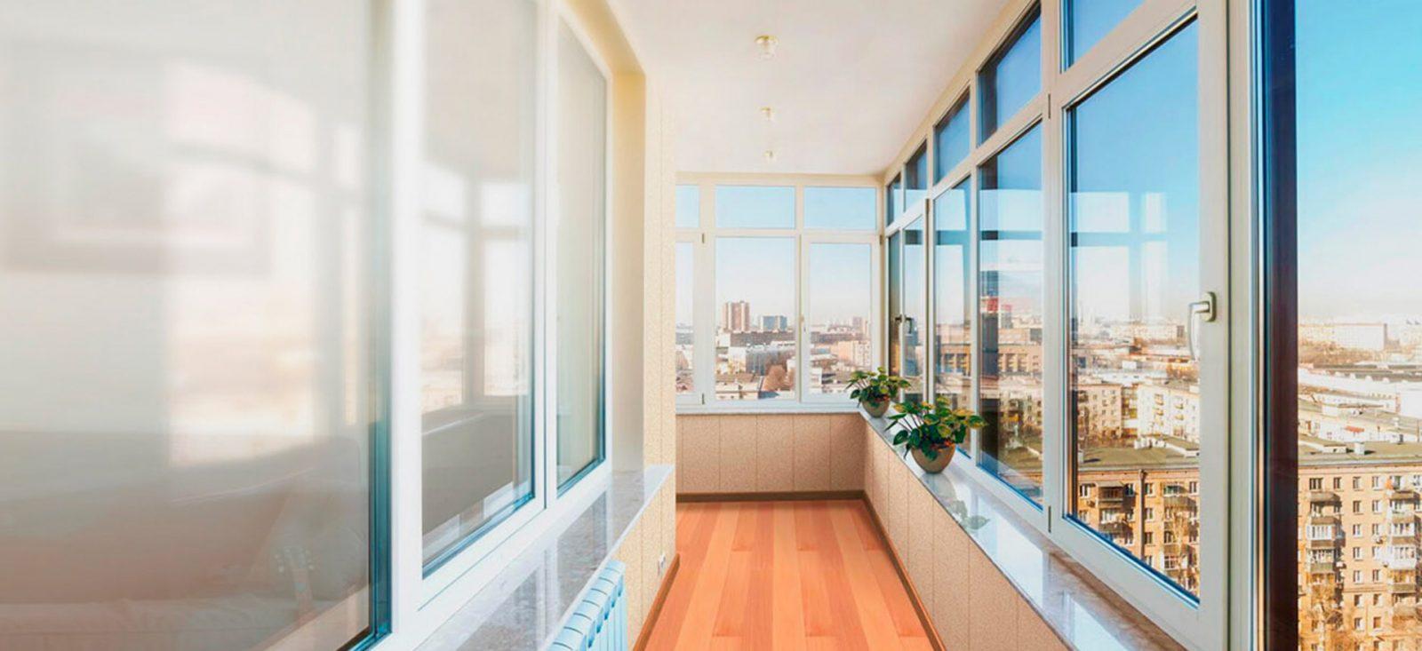 Экономное остекление балкона