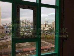 Дыбенко 8-3 ЖК Ренесанс фасадное остекление с коробами